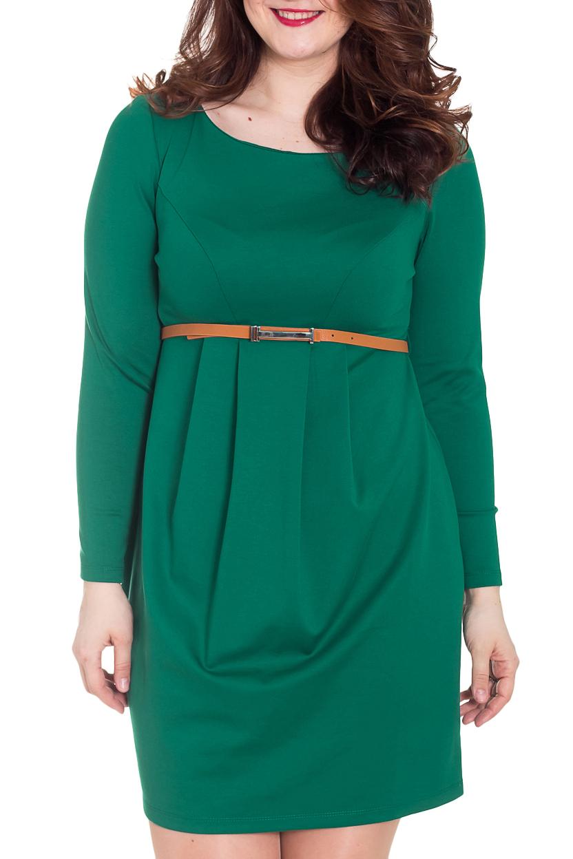 ПлатьеПлатья<br>Однотонное платье с круглой горловиной и длинными рукавами. Модель выполнена из приятного материала. Отличный выбор для любого случая. Платье без пояса.  За счет свободного кроя и эластичного материала изделие можно носить во время беременности  Цвет: зеленый  Рост девушки-фотомодели 180 см<br><br>Горловина: С- горловина<br>По длине: До колена<br>По материалу: Вискоза,Трикотаж<br>По рисунку: Однотонные<br>По силуэту: Полуприталенные<br>По стилю: Классический стиль,Офисный стиль,Повседневный стиль<br>По элементам: С завышенной талией,Со складками<br>Рукав: Длинный рукав<br>По сезону: Осень,Весна,Зима<br>Размер : 42,44,46,48,50<br>Материал: Джерси<br>Количество в наличии: 5