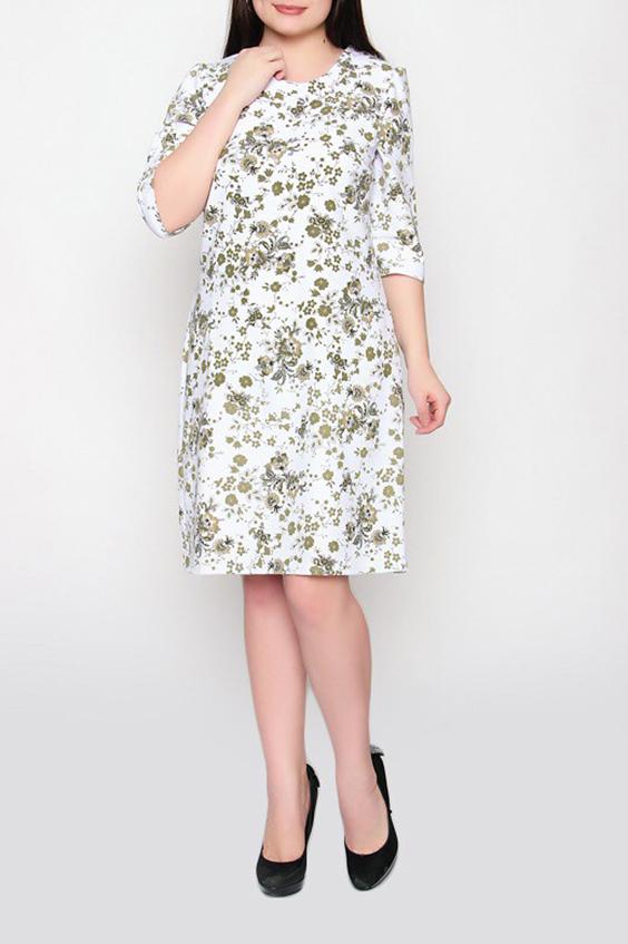 ПлатьеПлатья<br>Цветное платье полуприталенного силуэта с круглой горловиной и рукавами 3/4. Модель выполнена из приятного материала. Отличный выбор для повседневного гардероба.  Цвет: белый, зеленый  Ростовка изделия 170 см.<br><br>Горловина: С- горловина<br>По длине: До колена<br>По материалу: Тканевые<br>По рисунку: Растительные мотивы,С принтом,Цветные,Цветочные<br>По силуэту: Полуприталенные<br>По стилю: Повседневный стиль<br>Рукав: До локтя,Рукав три четверти<br>По сезону: Осень,Весна<br>По форме: Платье - трапеция<br>Размер : 50,52,54,56<br>Материал: Плательная ткань<br>Количество в наличии: 4
