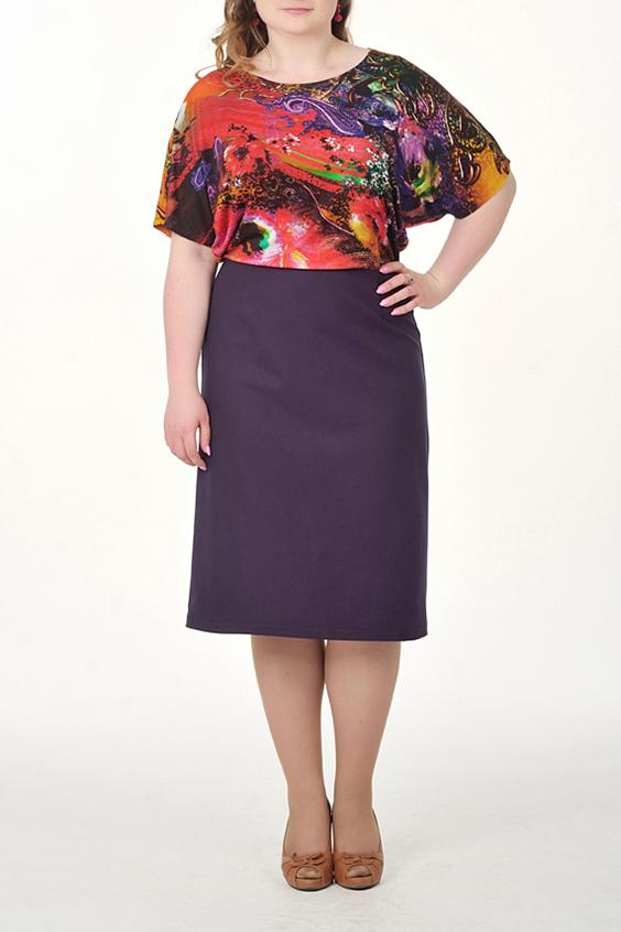 ПлатьеПлатья<br>Интересное платье с имитацией блузки и юбки. Модель выполнена из приятного материала. Отличный выбор для повседневного гардероба.  Цвет: фиолетовый и др.  Ростовка изделия 164 см.<br><br>Горловина: С- горловина<br>По длине: Ниже колена<br>По материалу: Вискоза,Трикотаж<br>По рисунку: С принтом,Цветные<br>По сезону: Лето,Осень,Весна<br>По силуэту: Полуприталенные<br>По стилю: Повседневный стиль<br>По форме: Платье - футляр<br>Рукав: До локтя<br>Размер : 46,48,50,52,54<br>Материал: Трикотаж<br>Количество в наличии: 9