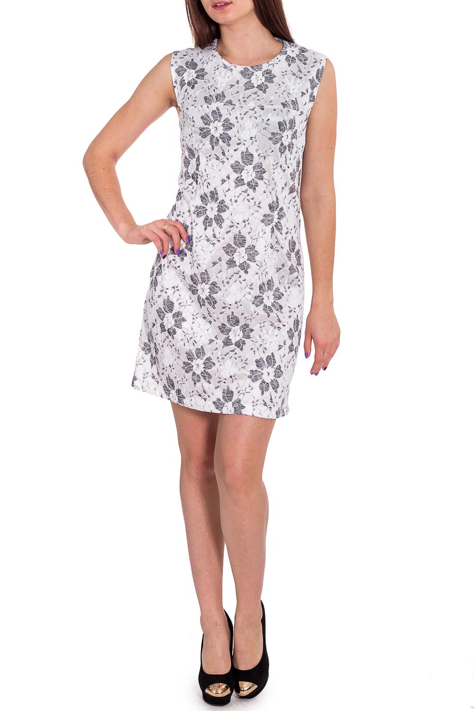 ПлатьеПлатья<br>Простое и лаконичное платье с отрезным лифом-кокеткой и выточками по груди. Замок-молния по спинке. А-силует и круглый вырез - все, что нужно на каждый день.  В изделии использованы цвета: белый, серый  Рост девушки-фотомодели 173 см<br><br>Горловина: С- горловина<br>По длине: До колена<br>По материалу: Атлас,Гипюр<br>По образу: Город,Свидание<br>По рисунку: Растительные мотивы,С принтом,Цветные,Цветочные<br>По сезону: Весна,Зима,Лето,Осень,Всесезон<br>По силуэту: Полуприталенные<br>По стилю: Нарядный стиль,Повседневный стиль<br>По форме: Платье - трапеция<br>Рукав: Без рукавов<br>Размер : 48,50<br>Материал: Атлас + Гипюр<br>Количество в наличии: 2