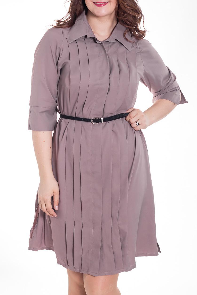 ПлатьеПлатья<br>Замечательное женское платье-рубашка прямого силуэта. Модель выполнена из приятного материала. Отличный выбор для повседневного гардероба. Платье без пояса.  Цвет: какао  Рост девушки-фотомодели 180 см<br><br>Воротник: Рубашечный<br>По длине: До колена<br>По материалу: Тканевые<br>По рисунку: Однотонные<br>По сезону: Лето,Осень,Весна<br>По силуэту: Полуприталенные<br>По стилю: Офисный стиль,Повседневный стиль<br>По форме: Платье - рубашка<br>По элементам: С декором,Со складками<br>Рукав: Рукав три четверти<br>Размер : 48-50,52-54<br>Материал: Плательная ткань<br>Количество в наличии: 2
