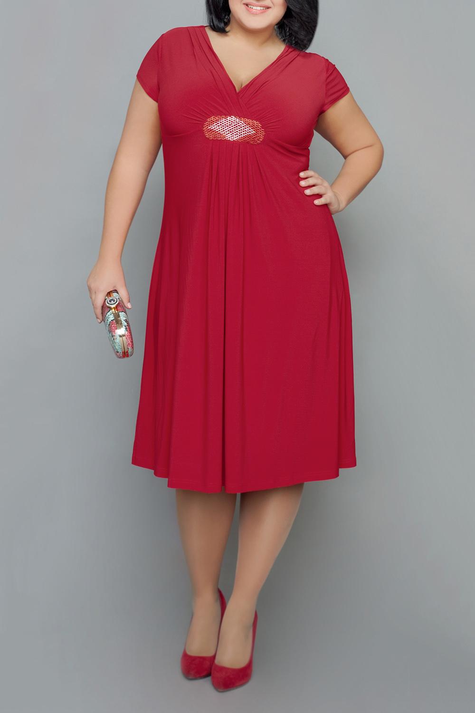 ПлатьеПлатья<br>Яркое красное платье с завышенной талией. Модель выполнена из струящегося трикотажа. Отличный выбор для любого случая.   В изделии использованы цвета: красный  Ростовка изделия 170 см.  Параметры размеров: 48 размер - обхват груди 100 см., обхват талии 84 см., обхват бедер 108 см. 50 размер - обхват груди 104 см., обхват талии 89 см., обхват бедер 112 см. 52 размер - обхват груди 108 см., обхват талии 94 см., обхват бедер 116 см. 54 размер - обхват груди 112 см., обхват талии 99 см., обхват бедер 120 см. 56 размер - обхват груди 116 см., обхват талии 104 см., обхват бедер 124 см. 58 размер - обхват груди 120 см., обхват талии 109 см., обхват бедер 128 см. 60 размер - обхват груди 124 см., обхват талии 114 см., обхват бедер 132 см. 62 размер - обхват груди 128 см., обхват талии 119 см., обхват бедер 136 см. 64 размер - обхват груди 132 см., обхват талии 124 см., обхват бедер 140 см. 66 размер - обхват груди 136 см., обхват талии 129 см., обхват бедер 144 см. 68 размер - обхват груди 140 см., обхват талии 134 см., обхват бедер 148 см. 70 размер - обхват груди 144 см., обхват талии 139 см., обхват бедер 152 см. 72 размер - обхват груди 148 см., обхват талии 144 см., обхват бедер 156 см. 74 размер - обхват груди 152 см., обхват талии 149 см., обхват бедер 160 см. 76 размер - обхват груди 156 см., обхват талии 154 см., обхват бедер 164 см.<br><br>Горловина: V- горловина<br>По длине: Ниже колена<br>По материалу: Трикотаж<br>По рисунку: Однотонные<br>По сезону: Весна,Зима,Лето,Осень,Всесезон<br>По стилю: Нарядный стиль<br>По форме: Платье - трапеция<br>По элементам: С декором,С завышенной талией<br>Рукав: Короткий рукав<br>Размер : 60,64<br>Материал: Холодное масло<br>Количество в наличии: 2