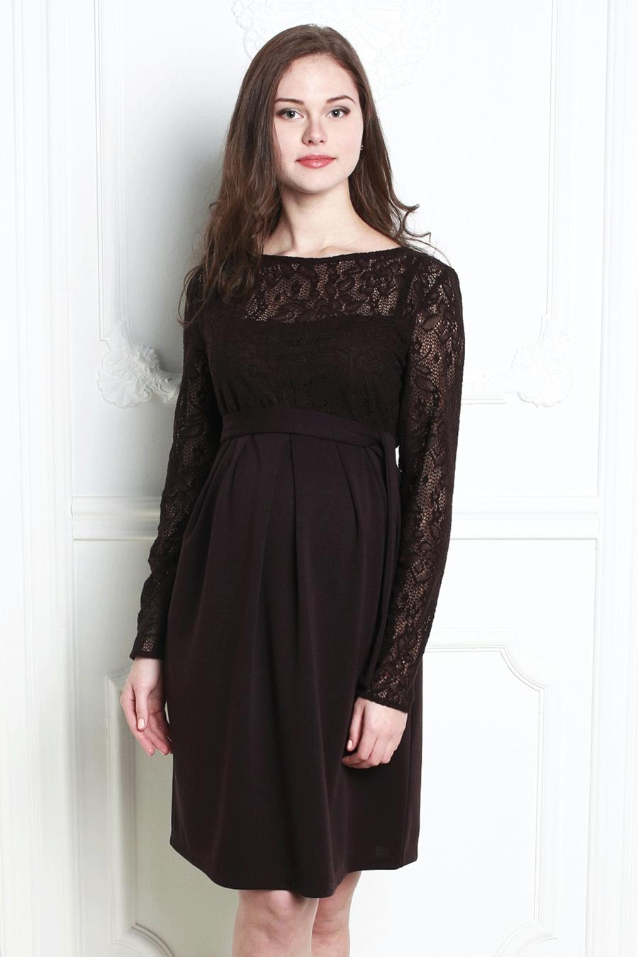 ПлатьеПлатья<br>Нарядное платье с длинными рукавами из гипюра. Модель выполнена из приятного трикотажа. Отличный выбор для любого торжества.  За счет свободного кроя и эластичного материала изделие можно носить во время беременности Ростовка 170-176 см.  Цвет: коричневый  Рост девушки-фотомодели 180 см<br><br>Горловина: С- горловина<br>По длине: До колена<br>По материалу: Гипюр,Трикотаж<br>По рисунку: Однотонные<br>По силуэту: Полуприталенные<br>По стилю: Нарядный стиль,Повседневный стиль<br>По элементам: Со складками,С завышенной талией<br>Рукав: Длинный рукав<br>По сезону: Осень,Весна<br>По форме: Платье - футляр<br>Размер : 46,50<br>Материал: Джерси + Гипюр<br>Количество в наличии: 2