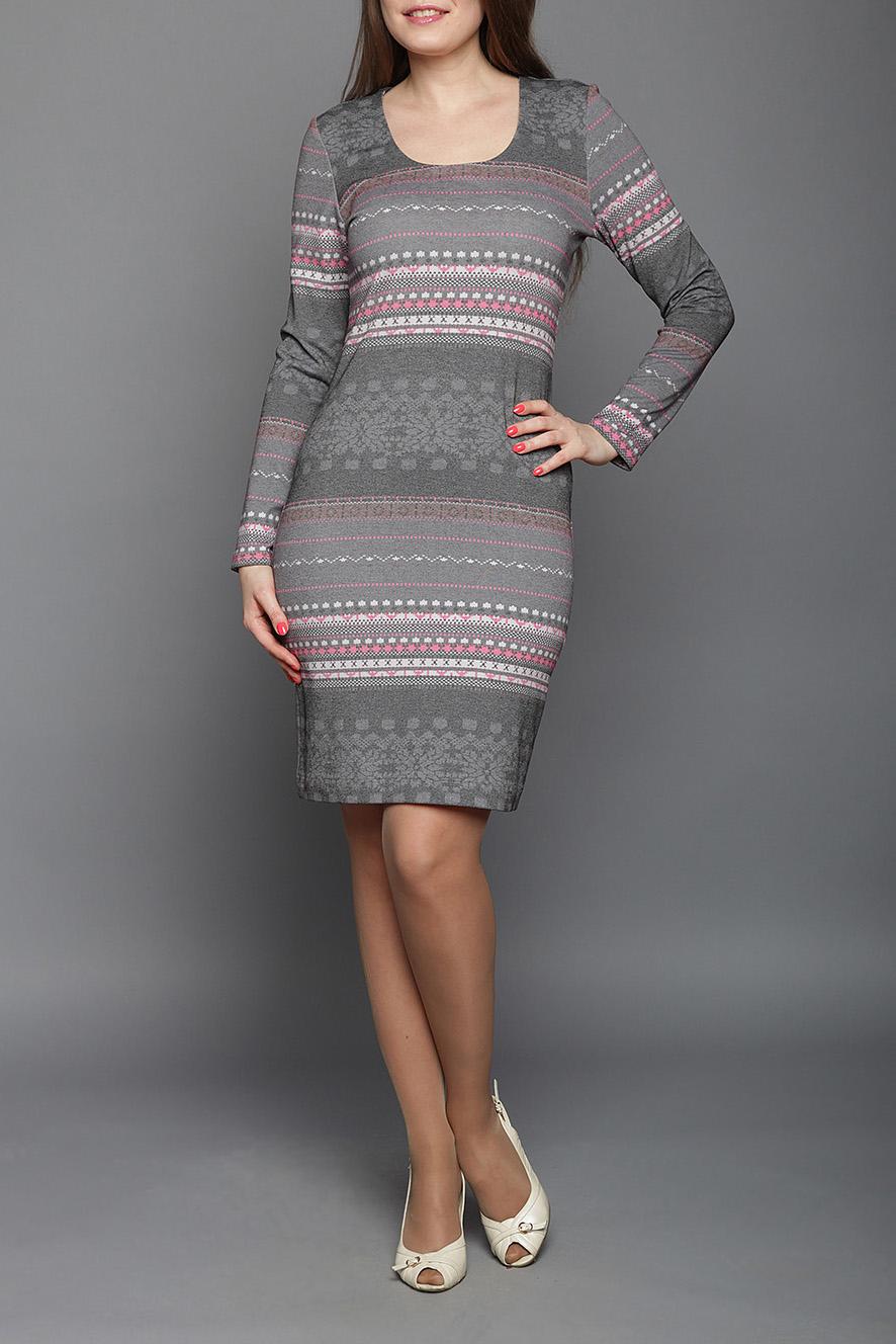 Платье платье daloria цвет серый розовый