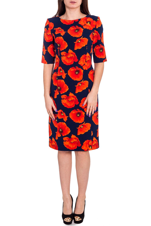 ПлатьеПлатья<br>Прелестное платье из плотной креповой ткани с большим содержанием эластана с модным цветочным принтом. Рукав— реглан, длиной до локтя. Овальный вырез горловины. Платье очень комфортным и невероятно женственное.  В изделии использованы цвета: синий, красный и др.  Рост девушки-фотомодели 173 см<br><br>Горловина: С- горловина<br>По длине: До колена<br>По материалу: Вискоза,Тканевые<br>По рисунку: Растительные мотивы,С принтом,Цветные,Цветочные<br>По силуэту: Полуприталенные<br>По стилю: Повседневный стиль<br>По форме: Платье - футляр<br>По элементам: С разрезом<br>Разрез: Короткий,Шлица<br>Рукав: До локтя<br>По сезону: Осень,Весна,Зима<br>Размер : 46,48,52<br>Материал: Плательная ткань<br>Количество в наличии: 3