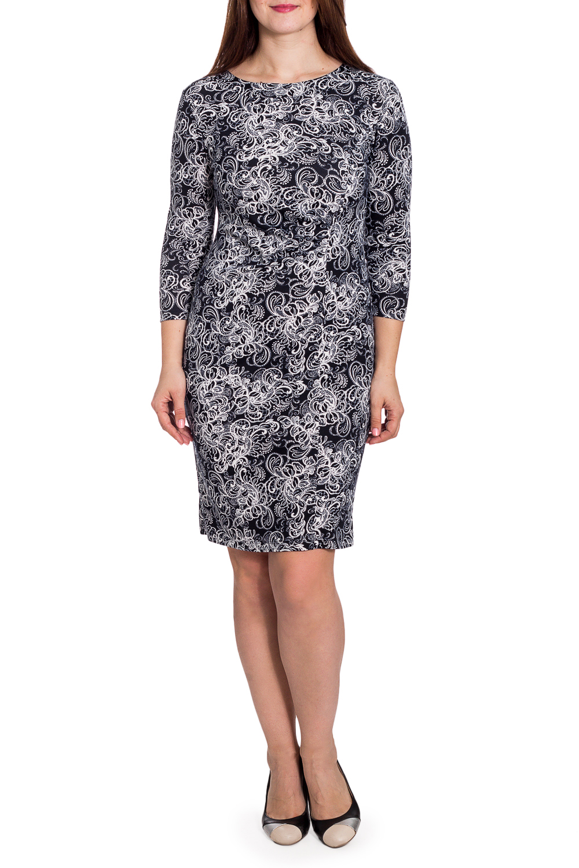 ПлатьеПлатья<br>Цветное платье футлярного типа с круглой горловиной и рукавами 3/4. Модель выполнена из приятного трикотажа. Отлиный выбор для повседневного гардероба.  В изделии использованы цвета: черный, серый, белый.  Рост девушки-фотомодели 180 см.<br><br>Горловина: С- горловина<br>По длине: До колена<br>По материалу: Вискоза,Трикотаж<br>По рисунку: С принтом,Цветные<br>По силуэту: Полуприталенные<br>По стилю: Повседневный стиль<br>По форме: Платье - футляр<br>Рукав: Рукав три четверти<br>По сезону: Осень,Весна,Зима<br>Размер : 48,54<br>Материал: Трикотаж<br>Количество в наличии: 4