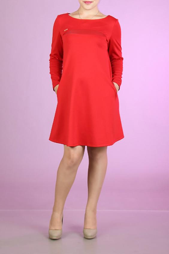 ПлатьеПлатья<br>Яркое платье с горловиной quot;лодочкаquot; и длинными рукавами. Модель выполнена из приятного материала. Отличный выбор для любого случая.  За счет свободного кроя и эластичного материала изделие можно носить во время беременности  Цвет: красный  Ростовка изделия 170 см.<br><br>Горловина: Лодочка<br>По длине: До колена<br>По материалу: Вискоза,Трикотаж<br>По рисунку: Однотонные<br>По силуэту: Полуприталенные<br>По стилю: Нарядный стиль,Повседневный стиль<br>По форме: Платье - трапеция<br>Рукав: Длинный рукав<br>По элементам: С карманами<br>По сезону: Осень,Весна,Зима<br>Размер : 44<br>Материал: Джерси<br>Количество в наличии: 1