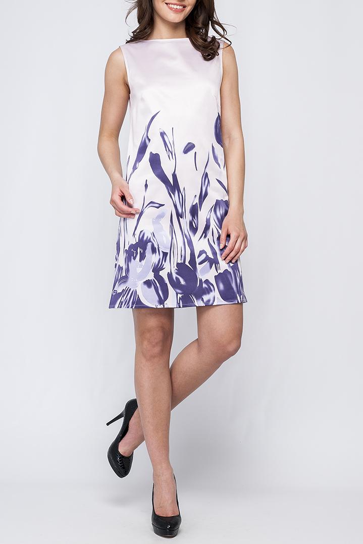 ПлатьеПлатья<br>Цветное платье без рукавов. Модель выполнена из гладкого атласа. Отличный выбор для летнего гардероба.  Параметры изделия:  44 размер: длина изделия по спинке - 91см, ширина по линии груди - 48см;  54 размер: длина изделия по спинке - 97см, ширина по линии груди- 58,5см  Цвет: белый, фиолетовый  Рост девушки-фотомодели 170 см<br><br>Горловина: С- горловина<br>По длине: До колена<br>По материалу: Атлас<br>По образу: Город,Свидание<br>По рисунку: Растительные мотивы,С принтом,Цветные,Цветочные<br>По сезону: Весна,Зима,Лето,Осень,Всесезон<br>По силуэту: Полуприталенные<br>По стилю: Летний стиль,Нарядный стиль,Повседневный стиль<br>По форме: Платье - трапеция<br>Рукав: Без рукавов<br>Размер : 42,44,46,48<br>Материал: Атлас<br>Количество в наличии: 1