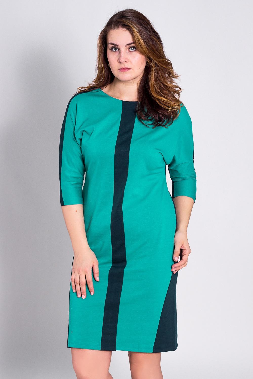 ПлатьеПлатья<br>Платье однотонное, фасона летучая мышь. Основным преимуществом платья является то, что оно украсит женщину с абсолютно любой фигурой. Модели платья с широким верхом в области плеч и узким по бедрам низом идут всем. Ткань характеризуется эластичностью, растяжимостью и мягкостью.  Рукав 3/4. Плотность ткани 280 гр/м2  Длина платья 100-105 см.  Цвет: зеленый  Рост девушки-фотомодели 180 см<br><br>По образу: Город,Свидание<br>По стилю: Повседневный стиль<br>По материалу: Вискоза,Трикотаж<br>По рисунку: Цветные<br>По сезону: Весна,Осень<br>По силуэту: Полуприталенные<br>По форме: Платье - футляр<br>По длине: До колена<br>Рукав: Рукав три четверти<br>Горловина: С- горловина<br>Размер: 50,52,54,56,58,60<br>Материал: 78% вискоза 19% полиэстер 3% эластан<br>Количество в наличии: 4