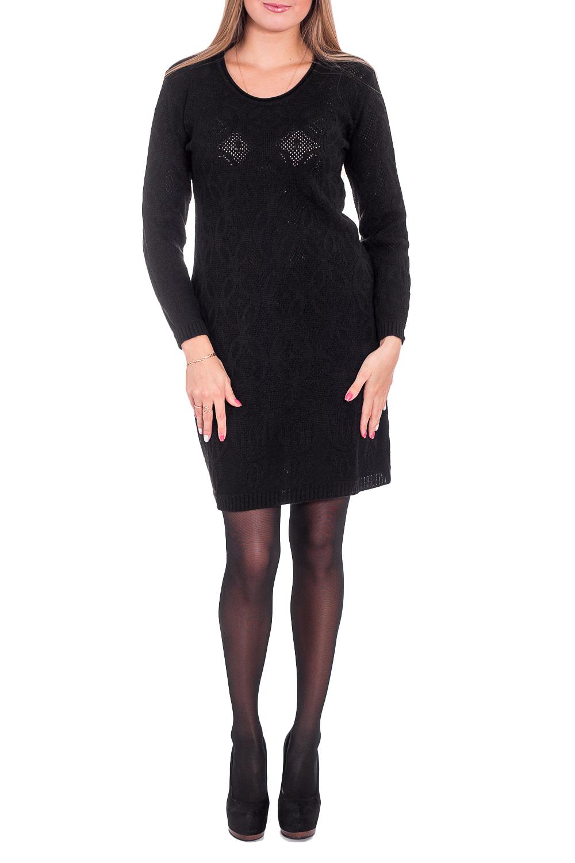 ПлатьеПлатья<br>Теплое платье с длинными рукавами. Вязаный трикотаж - это красота, тепло и комфорт. В вязаных вещах очень легко оставаться женственной и в то же время не замёрзнуть.  В изделии использованы цвета: черный  Рост девушки-фотомодели 170 см<br><br>Горловина: С- горловина<br>По длине: До колена<br>По материалу: Вязаные,Трикотаж<br>По рисунку: Однотонные,Фактурный рисунок<br>По силуэту: Приталенные<br>По стилю: Повседневный стиль<br>По форме: Платье - футляр<br>Рукав: Длинный рукав<br>По сезону: Зима<br>Размер : 44,50,52<br>Материал: Вязаное полотно<br>Количество в наличии: 6