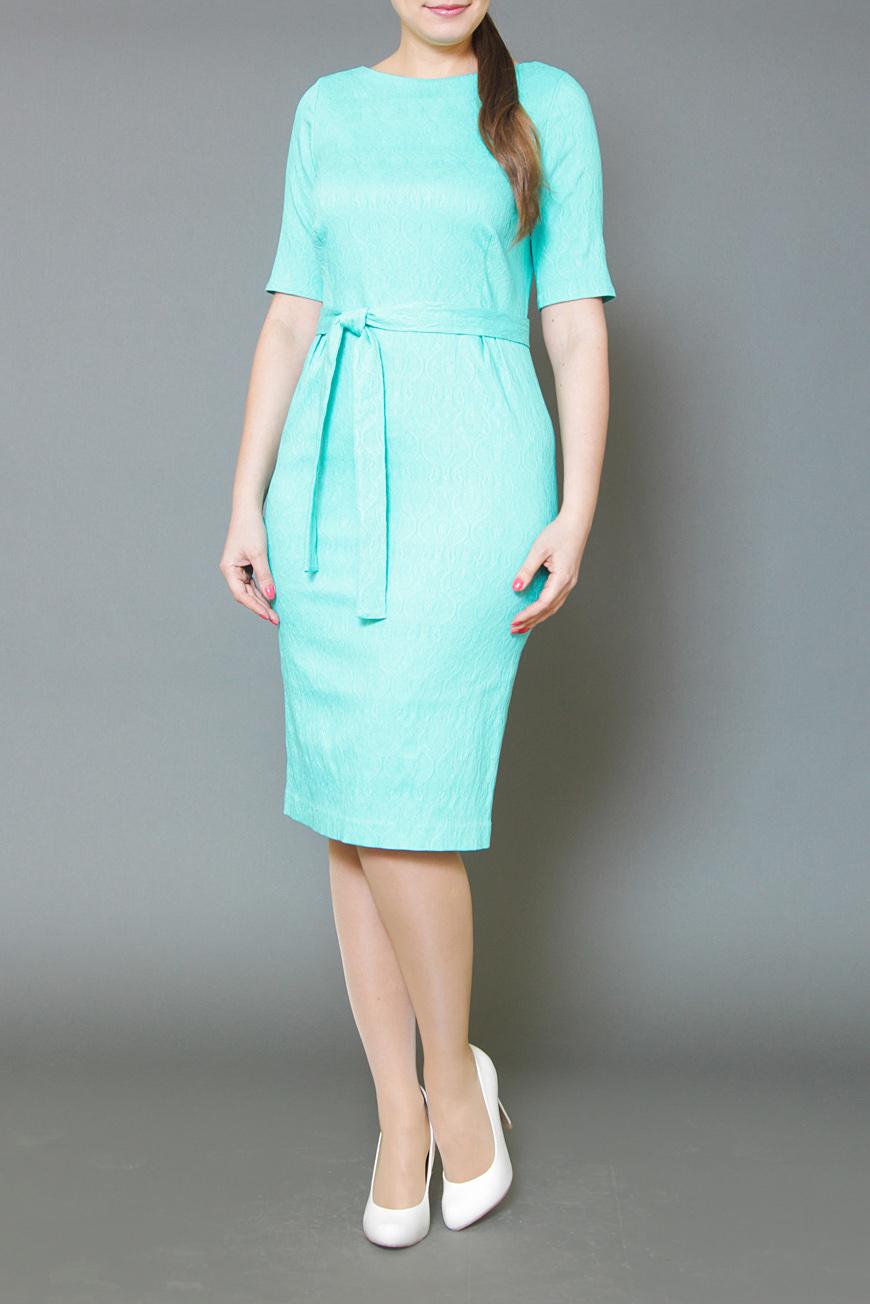 ПлатьеПлатья<br>Женское летнее платье прямого силуэта, зауженное к низу, с отрезной талией под пояс, выполненное в хлопковом стрейчевом жаккарде насыщенного бирюзового цвета. Застежка расположена сзади по среднему шву на потайную тесьму молнию. Великолепный праздничный и повседневный вариант, благодаря яркой расцветке, прекрасному дизайну и отличной посадке.  Платье без пояса.  Цвет: мятный  Ростовка изделия 170 см.<br><br>Горловина: С- горловина<br>По длине: Ниже колена<br>По материалу: Жаккард<br>По рисунку: Однотонные,Фактурный рисунок<br>По сезону: Весна,Зима,Лето,Осень,Всесезон<br>По силуэту: Полуприталенные<br>По стилю: Нарядный стиль,Повседневный стиль<br>По форме: Платье - футляр<br>По элементам: С разрезом<br>Разрез: Шлица<br>Рукав: До локтя<br>Размер : 46,48<br>Материал: Жаккард<br>Количество в наличии: 2