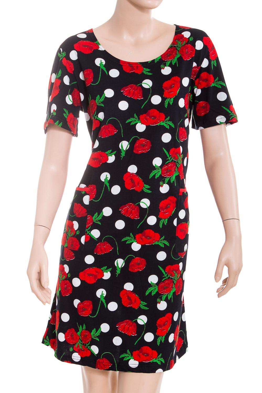 ПлатьеПлатья<br>Цветное платье с короткими рукавами. Домашняя одежда, прежде всего, должна быть удобной, практичной и красивой. В наших изделиях Вы будете чувствовать себя комфортно, особенно, по вечерам после трудового дня.  В изделии использованы цвета: черный, красный, белый, зеленый<br><br>Горловина: С- горловина<br>По рисунку: Цветные,Цветочные,С принтом<br>По сезону: Весна,Зима,Лето,Осень,Всесезон<br>По силуэту: Полуприталенные<br>По форме: Платья<br>Рукав: Короткий рукав<br>По материалу: Хлопок<br>Размер : 50<br>Материал: Хлопок<br>Количество в наличии: 1