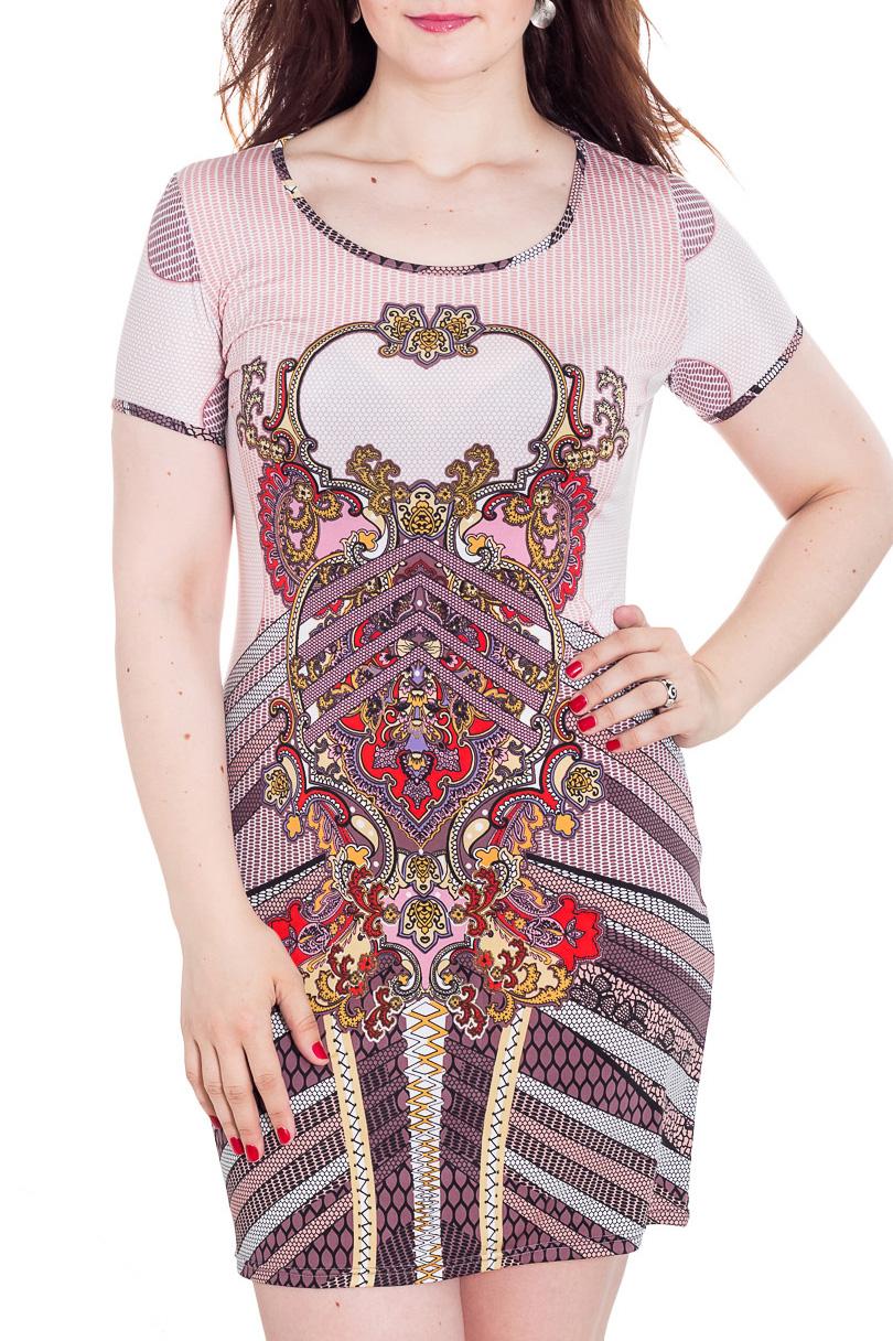 ПлатьеПлатья<br>Цветное женское платье с круглой горловиной и коротким рукавом. Модель приталенного силуэта из приятного трикотажа. Отличный вариант для повседневного гардероба  Цвет: сиреневый, красный, желтый  Рост девушки-фотомодели 180 см<br><br>Горловина: С- горловина<br>По длине: До колена<br>По материалу: Вискоза,Трикотаж<br>По рисунку: С принтом,Цветные<br>По силуэту: Приталенные<br>По стилю: Повседневный стиль,Летний стиль<br>По форме: Платье - футляр<br>Рукав: Короткий рукав<br>По сезону: Лето<br>Размер : 50<br>Материал: Холодное масло<br>Количество в наличии: 1