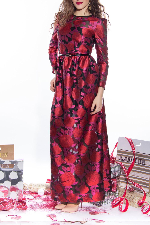 ПлатьеПлатья<br>Цветное платье в пол с круглой горловиной и рукавами 3/4. Модель выполнена из приятного материала. Отличный выбор для любого торжества. Платье без пояса.  Длина по спинке 44 размер - 150 см 46 размер - 150 см 48 размер - 151 см 50 размер - 151 см  Длина рукава 44 размер - 60 см 46 размер - 60 см 48 размер - 61 см 50 размер - 61 см  Цвет: красный, черный<br><br>Горловина: С- горловина<br>По длине: Макси<br>По материалу: Тканевые<br>По рисунку: Растительные мотивы,С принтом,Цветные,Цветочные<br>По сезону: Весна,Зима,Лето,Осень,Всесезон<br>По силуэту: Полуприталенные<br>По стилю: Нарядный стиль,Вечерний стиль<br>По форме: Платье - трапеция<br>Рукав: Рукав три четверти<br>Размер : 44,46<br>Материал: Капрон<br>Количество в наличии: 2