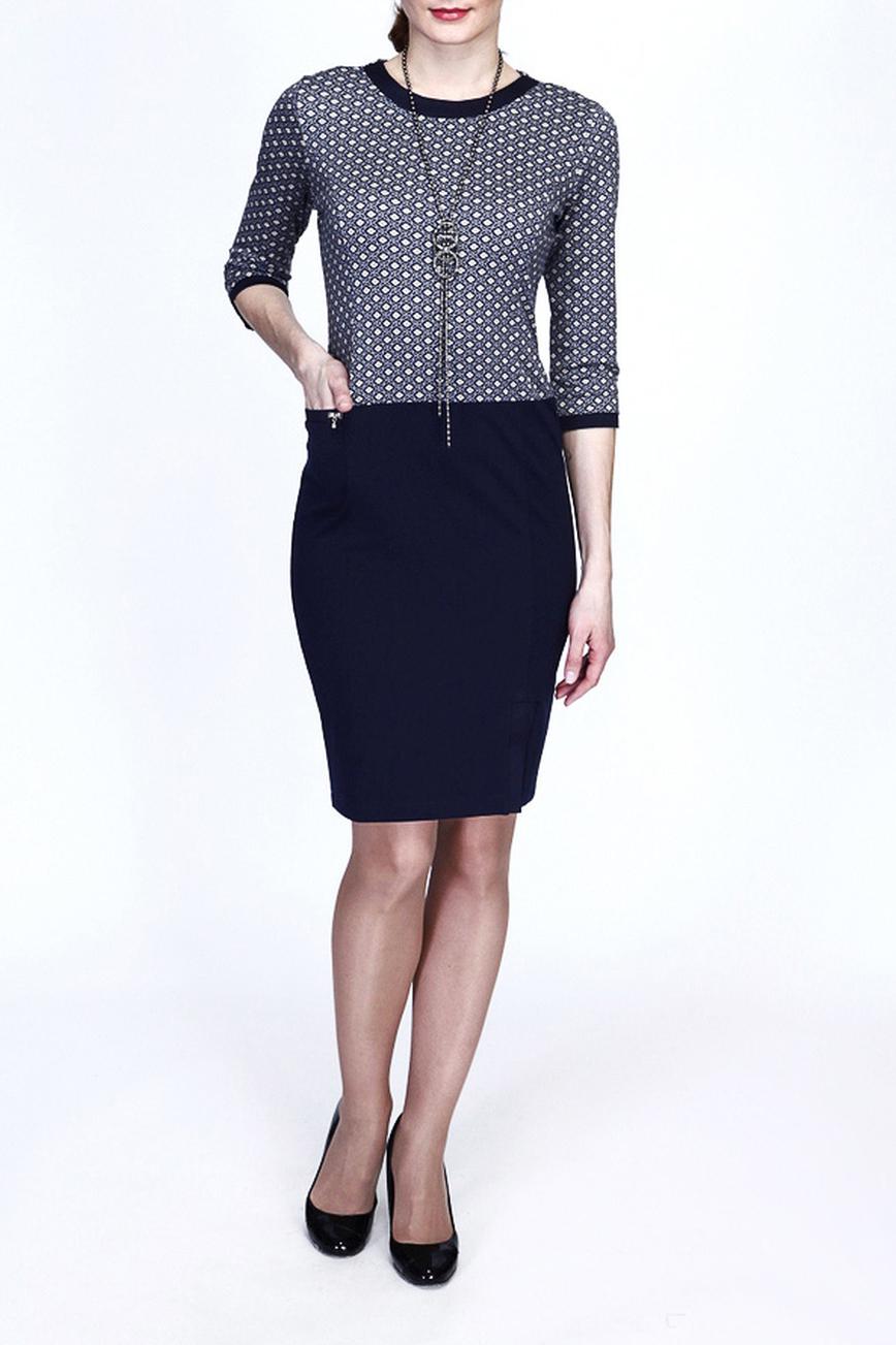 ПлатьеПлатья<br>Великолепное платье с круглой горловиной и рукавами 3/4. Модель выполнена из приятного материала. Отличный выбор для повседневного гардероба.  Цвет: синий, белый  Рост девушки-фотомодели 180 см.<br><br>Горловина: С- горловина<br>Рукав: Рукав три четверти<br>Длина: До колена<br>Материал: Шерсть<br>Рисунок: С принтом,Цветные<br>Сезон: Весна,Осень,Зима<br>Силуэт: Полуприталенные<br>Стиль: Повседневный стиль<br>Форма: Платье - футляр<br>Размер : 44,46,48,50<br>Материал: Джерси<br>Количество в наличии: 4