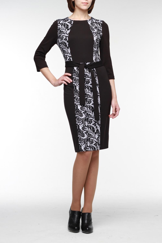 ПлатьеПлатья<br>Стильное комбинированное платье-футляр из высококачественного джерси двух гармонирующих цветов — подойдет для любого случая. Горловина обработана обтачкой, на спинке молния 50 см. и шлица. Рукав длиной три четверти. В комплект входит пояс.  В изделии использованы цвета: черный, белый  Рост девушки-фотомодели 176 см<br><br>Горловина: С- горловина<br>По длине: До колена<br>По материалу: Трикотаж<br>По рисунку: С принтом,Цветные<br>По сезону: Зима,Осень,Весна<br>По силуэту: Приталенные<br>По стилю: Повседневный стиль<br>По форме: Платье - футляр<br>По элементам: С поясом,С разрезом<br>Рукав: Рукав три четверти<br>Разрез: Короткий,Шлица<br>Размер : 48,52,54,56<br>Материал: Джерси<br>Количество в наличии: 4