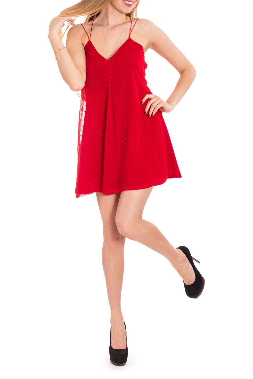 ПлатьеПлатья<br>Платье-сарафан на тонких бретелях, очень короткое, расширенное книзу. Модель напоминает нижнюю женскую сорочку-комбинацию или прилегающий сарафан на лямочках. Оно может выполнить функцию как вечернего туалета, так и повседневного платья для прогулки.  Цвет: красный  Рост девушки-фотомодели 170 см.<br><br>По длине: До колена,Мини<br>По материалу: Шифон<br>По рисунку: Однотонные,Фактурный рисунок,В горошек<br>По сезону: Весна,Зима,Лето,Осень,Всесезон<br>По стилю: Нарядный стиль,Летний стиль<br>По форме: Платье - трапеция<br>По элементам: С открытой спиной,С открытыми плечами<br>Рукав: Без рукавов<br>По силуэту: Свободные<br>Размер : 42,44,46<br>Материал: Шифон<br>Количество в наличии: 3