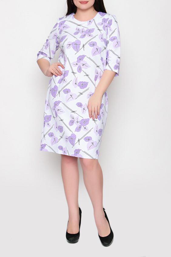ПлатьеПлатья<br>Цветное платье полуприталенного силуэта с круглой горловиной и рукавами 3/4. Модель выполнена из приятного материала. Отличный выбор для повседневного гардероба.  Цвет: белый, сиреневый  Ростовка изделия 170 см.<br><br>Горловина: С- горловина<br>По длине: До колена<br>По материалу: Тканевые<br>По образу: Город,Свидание<br>По рисунку: Растительные мотивы,С принтом,Цветные,Цветочные<br>По силуэту: Полуприталенные<br>По стилю: Повседневный стиль<br>По форме: Платье - футляр<br>Рукав: До локтя<br>По сезону: Осень,Весна<br>Размер : 50,52,54,56,58,60<br>Материал: Плательная ткань<br>Количество в наличии: 2