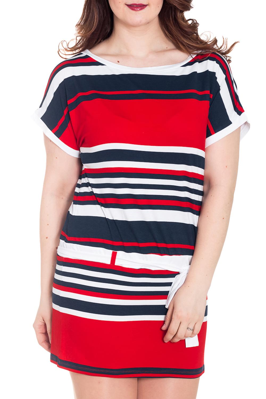 ПлатьеПлатья<br>Летнее платье с короткими рукавами. Модель выполнена из мягкой вискозы. Платье без пояса.  За счет свободного кроя и эластичного материала изделие можно носить во время беременности  Цвет: красный, белый, синий  Рост девушки-фотомодели 180 см<br><br>По образу: Город,Свидание<br>По стилю: Повседневный стиль<br>По материалу: Вискоза,Трикотаж<br>По рисунку: В полоску,С принтом,Цветные<br>По сезону: Лето<br>По силуэту: Полуприталенные<br>По форме: Платье - футляр<br>По длине: До колена<br>Рукав: Короткий рукав<br>Горловина: Лодочка<br>Размер: 42,44,46,48,50,52<br>Материал: 92% вискоза 8% лайкра<br>Количество в наличии: 12
