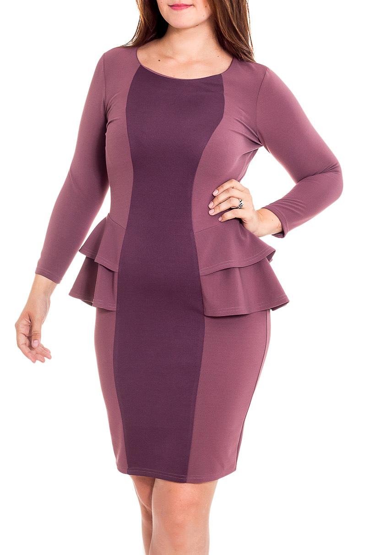 ПлатьеПлатья<br>Интересное платье с футлярного типа с баской. Модель выполнена из приятного трикотажа. Отличный выбор для любого случая. Ростовка изделия 170 см.  В изделии использованы цвета: розовый, фиолетовый  Рост девушки-фотомодели 180 см<br><br>Горловина: С- горловина<br>По длине: До колена<br>По материалу: Трикотаж<br>По образу: Город,Свидание<br>По рисунку: Цветные<br>По силуэту: Приталенные<br>По стилю: Повседневный стиль<br>По форме: Платье - футляр<br>По элементам: С баской<br>Рукав: Длинный рукав<br>По сезону: Осень,Весна<br>Размер : 46,48,50<br>Материал: Трикотаж<br>Количество в наличии: 3