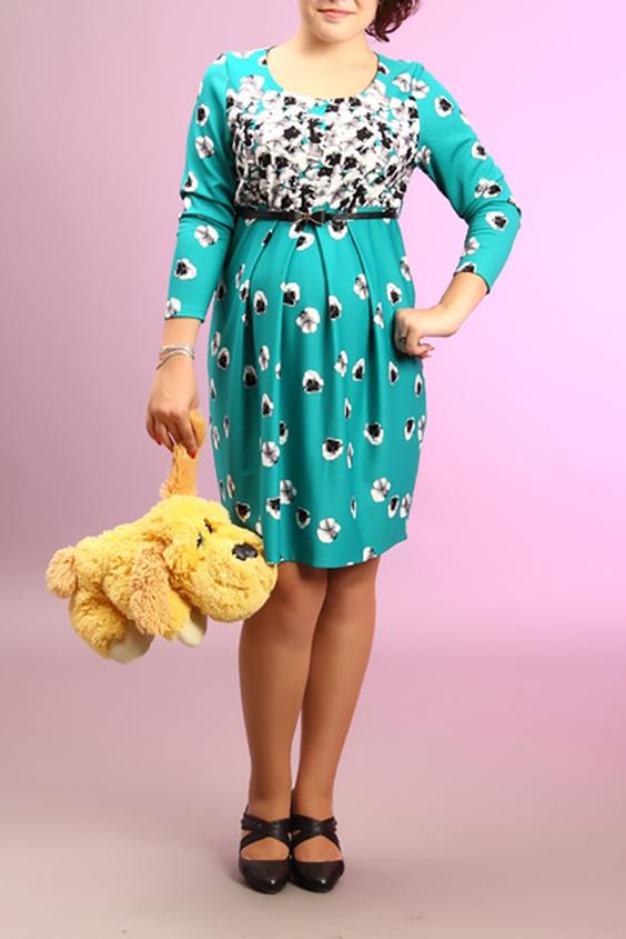 ПлатьеПлатья<br>Женское платье с круглой горловиной и рукавами 3/4. Модель выполнена из приятного материала. Отличный выбор для повседневного гардероба. Платье без пояса. В комплекте белый пояс.  За счет свободного кроя и эластичного материала изделие можно носить во время беременности  Цвет: бирюзовый, черный, белый<br><br>Горловина: С- горловина<br>По длине: До колена<br>По материалу: Вискоза,Трикотаж<br>По образу: Город,Свидание<br>По рисунку: Растительные мотивы,С принтом,Цветные,Цветочные<br>По силуэту: Полуприталенные<br>По стилю: Повседневный стиль<br>По элементам: Со складками<br>Рукав: Рукав три четверти<br>По сезону: Осень,Весна<br>По форме: Платье - футляр<br>Размер : 42,44,46,50,52<br>Материал: Трикотаж<br>Количество в наличии: 5