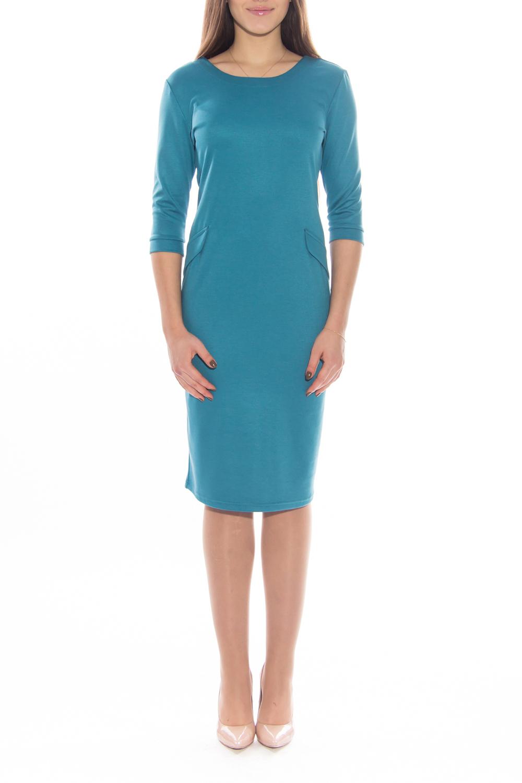 ПлатьеПлатья<br>Красивое платье с круглой горловиной и рукавами 3/4. На спинке декоративная молния. Модель выполнена из приятного материала. Отличный выбор для любого случая.  Длина   по спинке 44 размер - 107 см 46 размер - 107 см 48 размер - 107 см 50 размер - 110 см 52 размер - 110 см 54 размер - 110 см  Длина рукава 44 размер - 41 см 46 размер - 41 см 48 размер - 41 см 50 размер - 42 см 52 размер - 42 см 54 размер - 42 см  Цвет: голубой<br><br>Горловина: С- горловина<br>По длине: До колена<br>По материалу: Трикотаж<br>По рисунку: Однотонные<br>По силуэту: Приталенные<br>По стилю: Офисный стиль,Повседневный стиль<br>По форме: Платье - футляр<br>По элементам: С молнией,С отделочной фурнитурой,С разрезом<br>Рукав: Рукав три четверти<br>По сезону: Осень,Весна,Зима<br>Размер : 44,48,50,54<br>Материал: Джерси<br>Количество в наличии: 4