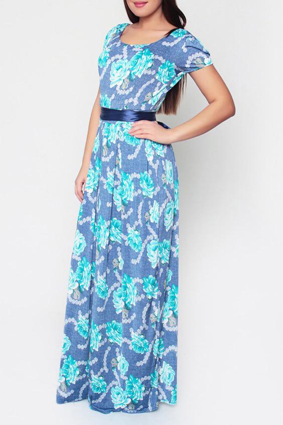 ПлатьеПлатья<br>Цветное платье в пол с короткими рукавами. Модель выполнена из приятного материала. Отличный выбор для повседневного гардероба. Платье без пояса.  Цвет: синий, голубой, белый  Ростовка изделия 170 см.<br><br>Горловина: С- горловина<br>По длине: Макси<br>По материалу: Трикотаж<br>По рисунку: Растительные мотивы,С принтом,Цветные,Цветочные<br>По силуэту: Полуприталенные<br>По стилю: Повседневный стиль,Летний стиль<br>Рукав: Короткий рукав<br>По сезону: Лето<br>Размер : 44<br>Материал: Холодное масло<br>Количество в наличии: 1