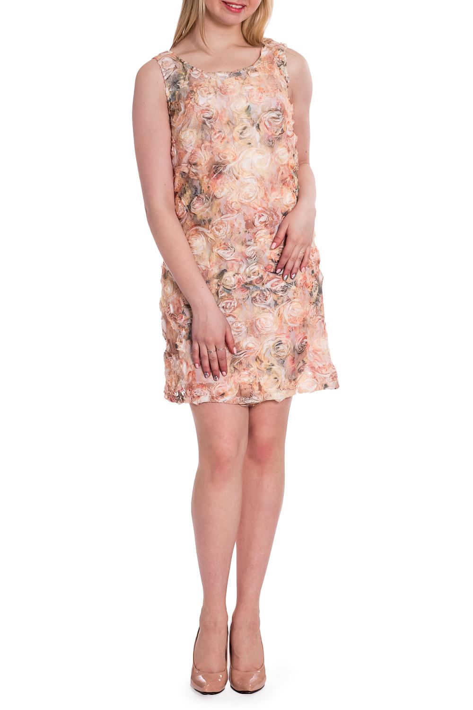 ПлатьеПлатья<br>Элегантное платье-чехол из необычной ткани. На прозрачный гипюр нашиты шифоновые цветы. Сзади по спинки выкат 15 см. Отличный коктейльный вариант.  В изделии использованы цвета: кремовый и др.  Рост девушки-фотомодели 170 см<br><br>Горловина: С- горловина<br>По длине: До колена<br>По материалу: Гипюровая сетка<br>По рисунку: Растительные мотивы,С принтом,Фактурный рисунок,Цветные,Цветочные<br>По сезону: Весна,Зима,Лето,Осень,Всесезон<br>По силуэту: Полуприталенные<br>По стилю: Летний стиль,Нарядный стиль,Повседневный стиль,Романтический стиль<br>По элементам: С декором,С подкладом<br>Рукав: Без рукавов<br>Размер : 40<br>Материал: Гипюровая сетка<br>Количество в наличии: 1