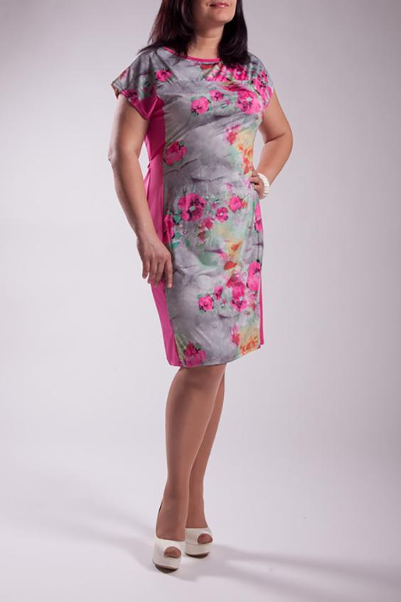 ПлатьеПлатья<br>Цветное платье с короткими рукавами и однотонными вставками по бокам. Модель выполнена из приятного трикотажа. Отличный выбор для повседневного гардероба.  Цвет: розовый, серый  Ростовка изделия 170 см.<br><br>Горловина: С- горловина<br>По длине: До колена<br>По материалу: Трикотаж<br>По рисунку: Растительные мотивы,С принтом,Цветные,Цветочные<br>По силуэту: Полуприталенные<br>По стилю: Повседневный стиль,Романтический стиль<br>По форме: Платье - футляр<br>Рукав: Короткий рукав<br>По сезону: Лето<br>Размер : 50,54,56<br>Материал: Холодное масло<br>Количество в наличии: 3