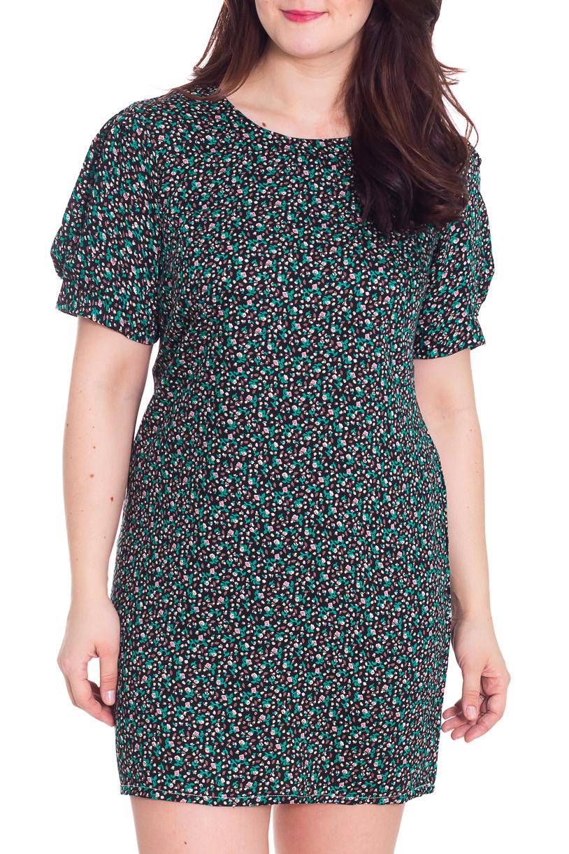 ПлатьеПлатья<br>Замечательное платье с круглой горловиной и короткими рукавами фонарик. Модель выполнена из приятного материала. Отличный выбор для повседневного гардероба.  Цвет: черный, бирюзовый, бежевый  Рост девушки-фотомодели 180 см.<br><br>Горловина: С- горловина<br>По длине: Мини<br>По материалу: Тканевые<br>По образу: Город,Свидание<br>По рисунку: С принтом,Цветные<br>По сезону: Весна,Осень<br>По силуэту: Полуприталенные<br>По стилю: Повседневный стиль<br>По форме: Платье - футляр<br>Рукав: Короткий рукав<br>Размер : 52,54<br>Материал: Плательная ткань<br>Количество в наличии: 2