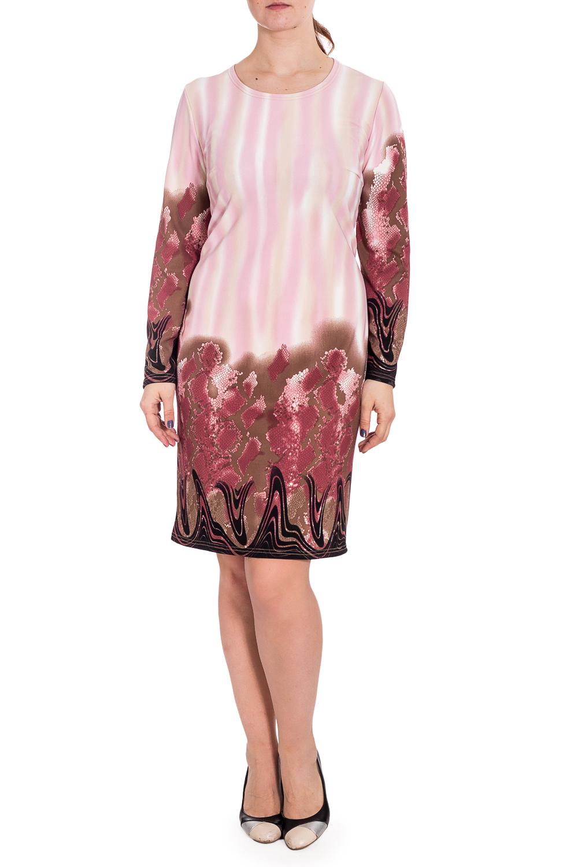 ПлатьеПлатья<br>Цветное платье с круглой горловиной и длинными рукавами. Модель выполнена из плотного трикотажа. Отличный выбор для повседневного гардероба.  В изделии использованы цвета: розовый, бежевый и др.  Рост девушки-фотомодели 180 см.<br><br>Горловина: С- горловина<br>По длине: До колена<br>По материалу: Трикотаж<br>По рисунку: Рептилия,С принтом,Цветные<br>По силуэту: Полуприталенные<br>По стилю: Повседневный стиль<br>По форме: Платье - футляр<br>Рукав: Длинный рукав<br>По сезону: Зима<br>Размер : 60,64<br>Материал: Трикотаж<br>Количество в наличии: 2