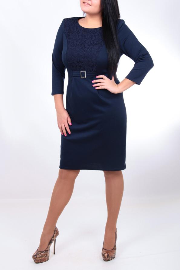 ПлатьеПлатья<br>Великолепное платье с рукавами 3/4. Вязаный трикотаж - это красота, тепло и комфорт. В вязаных вещах очень легко оставаться женственной и в то же время не замёрзнуть. Отличный выбор для любого случая.  Цвет: синий  Ростовка изделия 170 см.<br><br>Горловина: С- горловина<br>По длине: До колена<br>По материалу: Трикотаж<br>По образу: Город,Свидание<br>По рисунку: Однотонные<br>По силуэту: Приталенные<br>По стилю: Повседневный стиль<br>По форме: Платье - футляр<br>Рукав: Рукав три четверти<br>По сезону: Осень,Весна<br>По элементам: С декором<br>Размер : 50,54<br>Материал: Трикотаж<br>Количество в наличии: 2