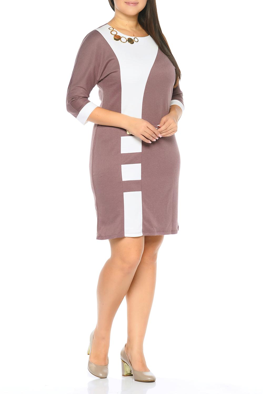 ПлатьеПлатья<br>Универсальное платье с контрастными вставками. Модель выполнена из приятного трикотажа. Отличный выбор для любого случая.   В изделии использованы цвета: бежевый, белый  Параметры размеров: 44 размер - обхват груди 84 см., обхват талии 72 см., обхват бедер 97 см. 46 размер - обхват груди 92 см., обхват талии 76 см., обхват бедер 100 см. 48 размер - обхват груди 96 см., обхват талии 80 см., обхват бедер 103 см. 50 размер - обхват груди 100 см., обхват талии 84 см., обхват бедер 106 см. 52 размер - обхват груди 104 см., обхват талии 88 см., обхват бедер 109 см. 54 размер - обхват груди 110 см., обхват талии 94,5 см., обхват бедер 114 см. 56 размер - обхват груди 116 см., обхват талии 101 см., обхват бедер 119 см. 58 размер - обхват груди 122 см., обхват талии 107,5 см., обхват бедер 124 см. 60 размер - обхват груди 128 см., обхват талии 114 см., обхват бедер 129 см.  Ростовка изделия 168 см.<br><br>Горловина: С- горловина<br>По длине: До колена<br>По материалу: Трикотаж<br>По рисунку: Цветные<br>По силуэту: Приталенные<br>По стилю: Кэжуал,Повседневный стиль<br>По форме: Платье - футляр<br>По элементам: С декором<br>Рукав: Рукав три четверти<br>По сезону: Осень,Весна,Зима<br>Размер : 50,52,54,56<br>Материал: Трикотаж<br>Количество в наличии: 7