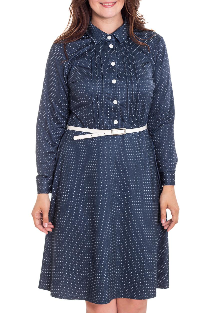 ПлатьеПлатья<br>Милое платье в горошек. Модель выполнена из приятного трикотажа. Отличный выбор для повседневного гардероба. Платье без пояса.  В изделии использованы цвета: синий, белый  Рост девушки-фотомодели 180 см.<br><br>Воротник: Рубашечный<br>По длине: До колена<br>По материалу: Вискоза,Трикотаж<br>По рисунку: В горошек,С принтом,Цветные<br>По силуэту: Приталенные<br>По стилю: Повседневный стиль<br>По форме: Платье - трапеция<br>По элементам: С манжетами,Со складками<br>Рукав: Длинный рукав<br>По сезону: Осень,Весна,Зима<br>Размер : 46,50,52<br>Материал: Холодное масло<br>Количество в наличии: 3