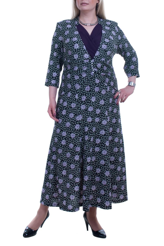 ПлатьеПлатья<br>Стильное женское платье из плотного трикотажа с рукавом три четверти. Отличный выбор для любого случая.  Цвет: фиолетовый, голубой  Рост девушки-фотомодели 173 см.<br><br>Горловина: V- горловина,Запах<br>По длине: Ниже колена<br>По материалу: Вискоза,Трикотаж<br>По образу: Город,Свидание<br>По рисунку: Цветные,С принтом<br>По сезону: Весна,Осень<br>По силуэту: Полуприталенные<br>По стилю: Повседневный стиль,Нарядный стиль<br>По форме: Платье - трапеция<br>По элементам: С декором<br>Рукав: Рукав три четверти<br>Размер : 56,58,60,62<br>Материал: Трикотаж<br>Количество в наличии: 11