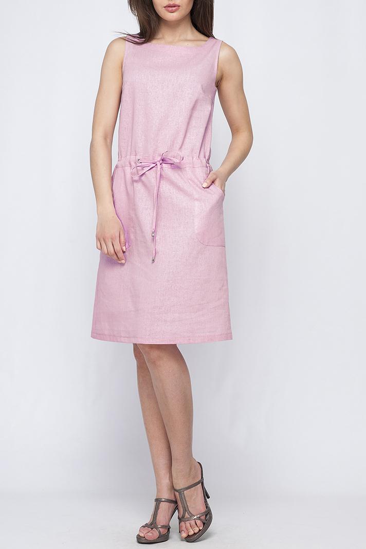 ПлатьеПлатья<br>Цветное платье длиной ниже колена. Модель выполнена из натурального льна. Отличный выбор для летнего гардероба.  Параметры изделия:  44 размер: длина изделия по спинке - 99см, обхват по линии груди - 92см;  48 размер: длина изделия по спинке - 102см, обхват по линии груди - 98см  Цвет: розовый  Рост девушки-фотомодели 170 см<br><br>Горловина: С- горловина<br>По длине: До колена<br>По материалу: Лен<br>По силуэту: Полуприталенные<br>По стилю: Летний стиль,Повседневный стиль<br>По форме: Платье - трапеция<br>Рукав: Без рукавов<br>По рисунку: Однотонные<br>По сезону: Лето<br>Размер : 42<br>Материал: Лен<br>Количество в наличии: 1