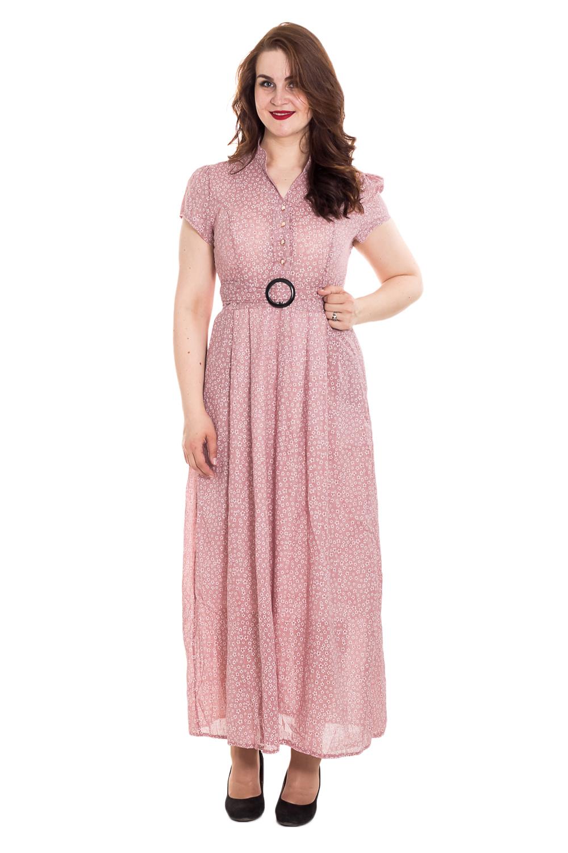 ПлатьеПлатья<br>Прекрасное платье макси лаконичного дизайна. Изделие выполнено из комфортного и мягкого материала однотонной расцветки. Модель с короткими рукавами. Подклад.  Цвет: розовый.  Рост девушки-фотомодели 180 см<br><br>Воротник: Стойка<br>Горловина: V- горловина<br>По длине: Макси<br>По материалу: Тканевые<br>По образу: Город,Свидание<br>По рисунку: Растительные мотивы,С принтом,Цветные,Цветочные<br>По силуэту: Полуприталенные,Свободные<br>По стилю: Летний стиль,Повседневный стиль,Романтический стиль<br>По элементам: С воротником,С вырезом,С декором,С подкладом<br>Рукав: Короткий рукав<br>По сезону: Лето<br>Размер : 52,54,56<br>Материал: Плательная ткань<br>Количество в наличии: 2