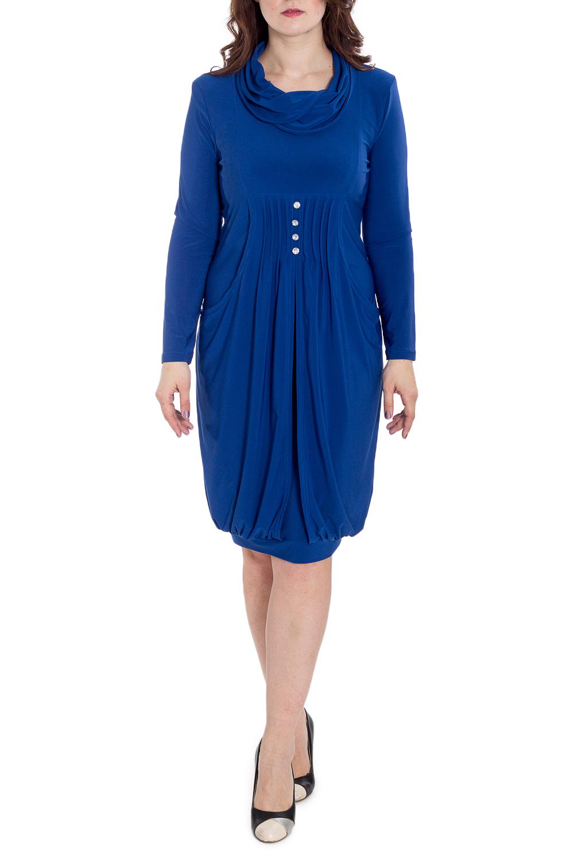 ПлатьеПлатья<br>Оригинальное женское платье, которое подойдет любому типу фигуры, выполненное из приятного телу трикотажа. Изделие с объемным воротником, карманами и длинными рукавами.  Цвет: синий  Рост девушки-фотомодели 180 см<br><br>Воротник: Фантазийный<br>По длине: Ниже колена<br>По материалу: Вискоза,Трикотаж<br>По образу: Город,Свидание<br>По рисунку: Однотонные<br>По силуэту: Полуприталенные<br>По стилю: Повседневный стиль<br>По форме: Платье - баллон<br>По элементам: С декором,С карманами,Со складками<br>Рукав: Длинный рукав<br>По сезону: Осень,Весна<br>Размер : 50<br>Материал: Холодное масло<br>Количество в наличии: 1