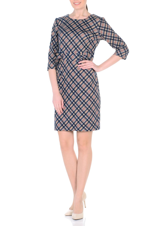 ПлатьеПлатья<br>Молодежное женское платье приталенного силуэта, застежка расположена сзади по средне шву на потайную тесьму молнию. Великолепный офисный и повседневный вариант, благодаря прекрасной расцветке ткани, её составу и отличной посадке. Элегантный внешний вид не только украшает платье, но и выделяет его из массы других вариантов, делая его ещё больше привлекательным для покупательниц. Ростовка изделия 170 см.  В изделии использованы цвета: бежевый, синий, красный и др.  Параметры размеров: 40 размер - обхват груди 84 см., обхват талии 62 см., обхват бедер 88 см. 42 размер - обхват груди 88 см., обхват талии 66 см., обхват бедер 92 см. 44 размер - обхват груди 92 см., обхват талии 70 см., обхват бедер 96 см. 46 размер - обхват груди 96 см., обхват талии 74 см., обхват бедер 100 см. 48 размер - обхват груди 100 см., обхват талии 78 см., обхват бедер 104 см. 50 размер - обхват груди 104 см., обхват талии 82 см., обхват бедер 108 см. 52 размер - обхват груди 108 см., обхват талии 86 см., обхват бедер 112 см. 54 размер - обхват груди 112 см., обхват талии 90 см., обхват бедер 116 см. 56 размер - обхват груди 116 см., обхват талии 94 см., обхват бедер 120 см. 58 размер - обхват груди 120 см., обхват талии 100 см., обхват бедер 126 см. 60 размер - обхват груди 124 см., обхват талии 105 см., обхват бедер 131 см. 62 размер - обхват груди 128 см., обхват талии 110 см., обхват бедер 136 см. 64 размер - обхват груди 132 см., обхват талии 115 см., обхват бедер 141 см. 66 размер - обхват груди 136 см., обхват талии 120 см., обхват бедер 146 см.<br><br>Горловина: С- горловина<br>По длине: До колена<br>По материалу: Трикотаж<br>По рисунку: В клетку,С принтом,Цветные<br>По сезону: Зима,Осень,Весна<br>По силуэту: Приталенные<br>По стилю: Повседневный стиль<br>По форме: Платье - футляр<br>По элементам: С декором<br>Рукав: Рукав три четверти<br>Размер : 48,50,52<br>Материал: Трикотаж<br>Количество в наличии: 3