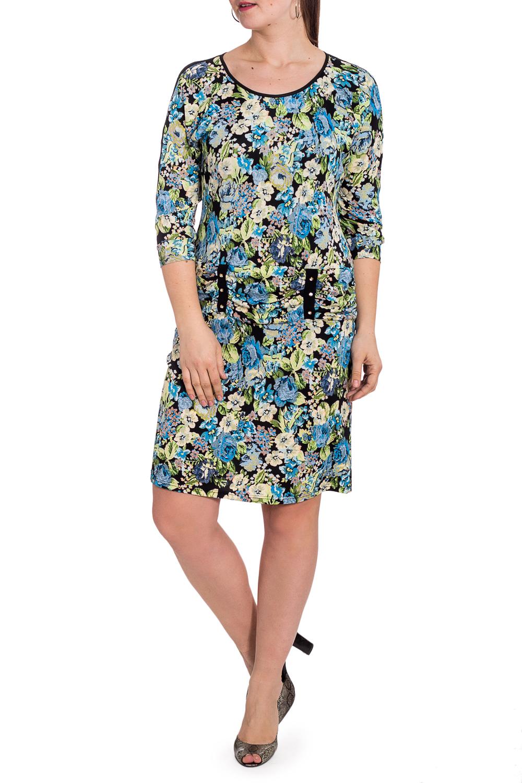 ПлатьеПлатья<br>Нарядное платье с гипюровыми вставками на рыкавах. Модель выполнена из приятного материала. Отличный выбор для любого случая.  В изделии использованы цвета: голубой, зеленый, черный и др.  Рост девушки-фотомодели 180 см<br><br>Горловина: С- горловина<br>По длине: До колена<br>По материалу: Вискоза,Гипюр,Трикотаж<br>По рисунку: Растительные мотивы,С принтом,Цветные,Цветочные<br>По силуэту: Полуприталенные<br>По стилю: Повседневный стиль<br>По форме: Платье - футляр<br>По элементам: С декором<br>Рукав: Рукав три четверти<br>По сезону: Осень,Весна,Зима<br>Размер : 48,50,52,54,56,58<br>Материал: Трикотаж + Гипюр<br>Количество в наличии: 6