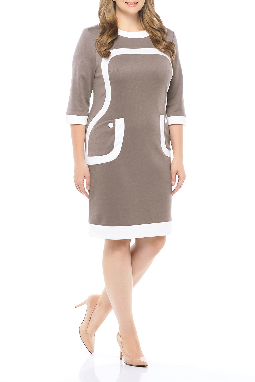 ПлатьеПлатья<br>Универсальное платье с контрастной отделкой. Модель выполнена из приятного трикотажа. Отличный выбор для любого случая.   В изделии использованы цвета: бежевый, белый  Параметры размеров: 44 размер - обхват груди 84 см., обхват талии 72 см., обхват бедер 97 см. 46 размер - обхват груди 92 см., обхват талии 76 см., обхват бедер 100 см. 48 размер - обхват груди 96 см., обхват талии 80 см., обхват бедер 103 см. 50 размер - обхват груди 100 см., обхват талии 84 см., обхват бедер 106 см. 52 размер - обхват груди 104 см., обхват талии 88 см., обхват бедер 109 см. 54 размер - обхват груди 110 см., обхват талии 94,5 см., обхват бедер 114 см. 56 размер - обхват груди 116 см., обхват талии 101 см., обхват бедер 119 см. 58 размер - обхват груди 122 см., обхват талии 107,5 см., обхват бедер 124 см. 60 размер - обхват груди 128 см., обхват талии 114 см., обхват бедер 129 см.  Ростовка изделия 168 см.<br><br>Горловина: С- горловина<br>По длине: До колена<br>По материалу: Трикотаж<br>По рисунку: Цветные<br>По силуэту: Приталенные<br>По стилю: Кэжуал,Офисный стиль,Повседневный стиль<br>По форме: Платье - футляр<br>По элементам: С декором<br>Рукав: Рукав три четверти<br>По сезону: Осень,Весна,Зима<br>Размер : 52,56<br>Материал: Трикотаж<br>Количество в наличии: 2