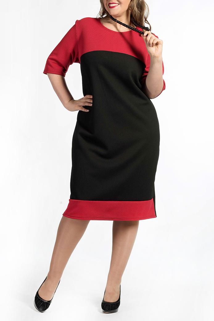 ПлатьеПлатья<br>Чудесное платье с круглой горловиной и рукавами 3/4. Модель выполнена из приятного материала. Отличный выбор для любого случая.  В изделии использованы цвета: красный, черный  Ростовка изделия 170 см.<br><br>Горловина: С- горловина<br>По длине: Ниже колена<br>По материалу: Трикотаж<br>По образу: Город,Свидание<br>По рисунку: Цветные<br>По сезону: Зима,Осень,Весна<br>По силуэту: Полуприталенные<br>По стилю: Повседневный стиль<br>По форме: Платье - футляр<br>Рукав: Рукав три четверти<br>Размер : 58,62,64<br>Материал: Трикотаж<br>Количество в наличии: 3