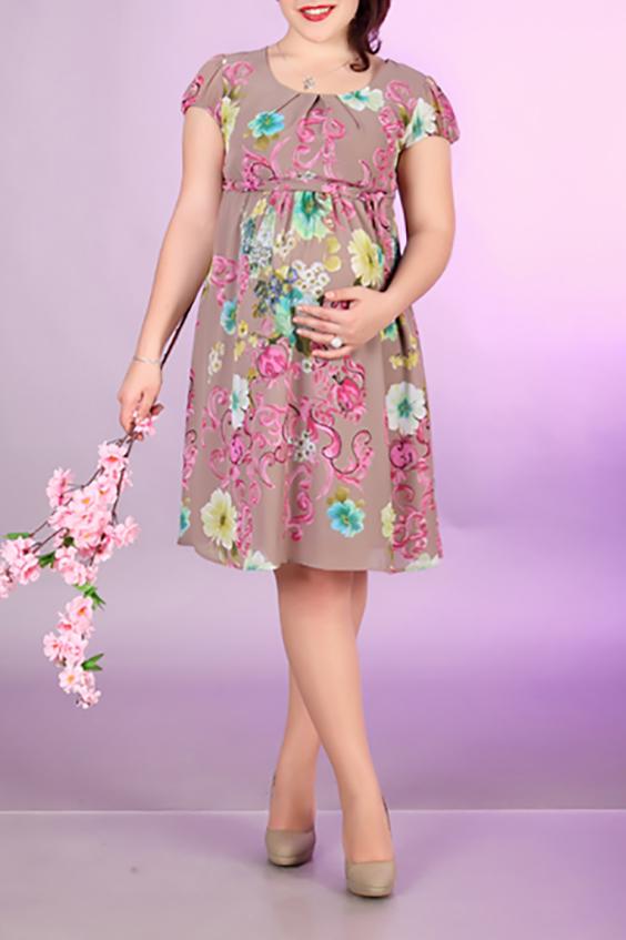 ПлатьеПлатья для будущих мам<br>Цветное платье с короткими рукавами. Модель выполнена из приятного материала. Отличный выбор для любого случая.  За счет свободного кроя и эластичного материала изделие можно носить во время беременности  Цвет: розовый, мультицвет  Ростовка изделия 170 см.<br><br>Горловина: С- горловина<br>По рисунку: Растительные мотивы<br>По силуэту: Полуприталенные<br>Рукав: Короткий рукав<br>По сезону: Лето<br>Размер : 42,44,48,50<br>Материал: Шифон<br>Количество в наличии: 6
