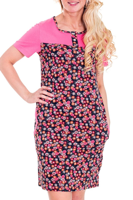 ПлатьеПлатья<br>Женское домашнее платье с круглой горловиной и короткими рукавами. Домашняя одежда, прежде всего, должна быть удобной, практичной и красивой. В платье Вы будете чувствовать себя комфортно, особенно, по вечерам после трудового дня.  Цвет: синий, розовый  Рост девушки-фотомодели 170 см<br><br>Горловина: С- горловина<br>По рисунку: Цветные,С принтом<br>По сезону: Весна,Осень,Всесезон,Зима,Лето<br>По силуэту: Полуприталенные<br>Рукав: Короткий рукав<br>По длине: До колена<br>По форме: Платья<br>По материалу: Хлопок<br>Размер : 42<br>Материал: Хлопок<br>Количество в наличии: 1