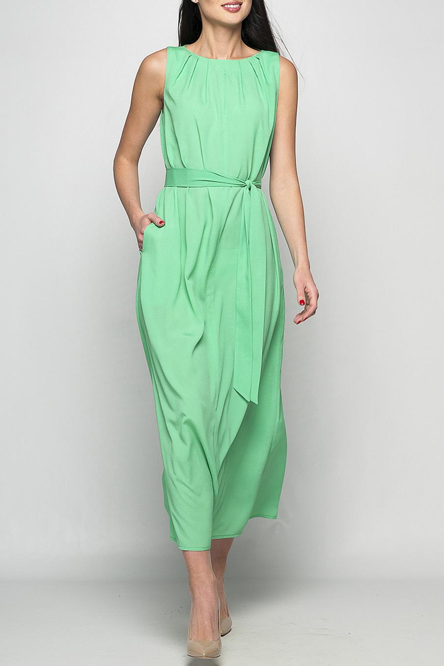 ПлатьеПлатья<br>Элегантное платье, которое подойдет, как для свидания, так и для деловой встречи, украсит Ваш гардероб. Просторные карманы не крадут изящности, но предоставляют Вам возможность взять с собой необходимые мелочи. Легкие складочки и небольшой вырез на груди добавят дополнительный акцент, который без сомнения привлечет внимание.   Параметры изделия:  44 размер: обхват груди - 98 см, обхват бедер - 118 см, длина изделия - 130 см;  52 размер: обхват груди - 112 см, обхват бедер - 124 см, длина изделия - 131 см.  Цвет: нежно-зеленый  Рост девушки-фотомодели 175 см<br><br>Горловина: С- горловина<br>По длине: Миди,Макси<br>По материалу: Шифон<br>По рисунку: Однотонные<br>По силуэту: Прямые<br>По стилю: Летний стиль,Повседневный стиль<br>По элементам: С декором,С карманами,Со складками<br>Рукав: Без рукавов<br>По сезону: Лето<br>Размер : 44,50<br>Материал: Шифон<br>Количество в наличии: 2