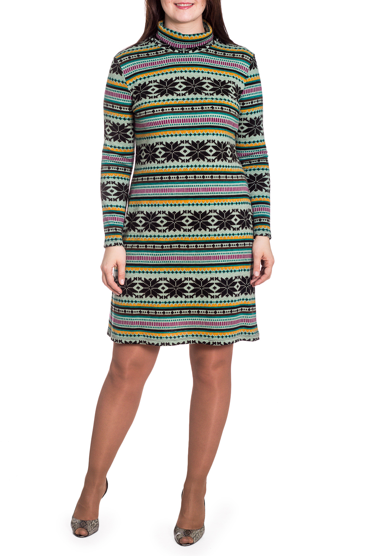 ПлатьеПлатья<br>Цветное платье с длинными рукавами и воротником quot;стойкаquot;. Модель выполнена из приятного трикотажа. Отличный выбор для повседневного гардероба.   В изделии использованы цвета: зеленый, черный, желтый и др.  Рост девушки-фотомодели 180 см.<br><br>Воротник: Стойка<br>По длине: Ниже колена<br>По материалу: Вискоза,Трикотаж<br>По рисунку: В полоску,С принтом,Цветные,Этнические<br>По силуэту: Приталенные<br>По стилю: Повседневный стиль<br>По форме: Платье - футляр<br>Рукав: Длинный рукав<br>По сезону: Зима<br>Размер : 46,52<br>Материал: Трикотаж<br>Количество в наличии: 2