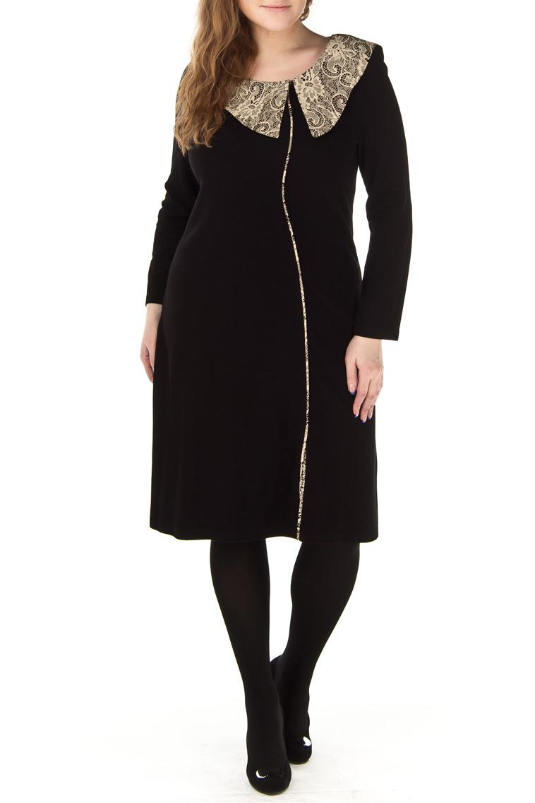 ПлатьеПлатья<br>Теплое платье с длинными рукавами. Модель выполнена из приятного трикотажа. Отличный выбор для повседневного гардероба.  Цвет: черный  Ростовка изделия 170 см.<br><br>Воротник: Отложной<br>Горловина: С- горловина<br>По длине: До колена<br>По материалу: Трикотаж,Шерсть<br>По рисунку: Однотонные,Цветные<br>По сезону: Зима<br>По силуэту: Полуприталенные<br>По стилю: Повседневный стиль<br>По форме: Платье - футляр<br>По элементам: С декором<br>Рукав: Длинный рукав<br>Размер : 46,48,50<br>Материал: Трикотаж<br>Количество в наличии: 12