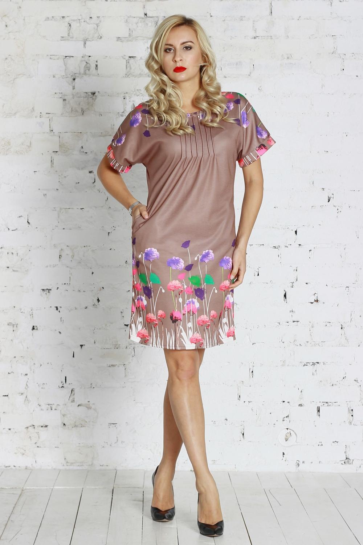 ПлатьеПлатья<br>Платье из полушерстяного трикотажного полотна полуприлегающего силуэта с поясом, с внутренними боковыми карманами. Линия плеча спущена, оформлена обтачками, горловина оформлена защипами.  Цвет: розово-бежевый, мультицвет  Рост девушки-фотомодели 175 см<br><br>Горловина: С- горловина<br>По длине: До колена<br>По материалу: Трикотаж,Шерсть<br>По рисунку: Растительные мотивы,С принтом,Цветные,Цветочные<br>По силуэту: Приталенные<br>По стилю: Повседневный стиль,Романтический стиль<br>По элементам: С декором,Со складками<br>Рукав: Короткий рукав<br>По сезону: Осень,Весна,Лето<br>Размер : 42<br>Материал: Трикотаж<br>Количество в наличии: 1