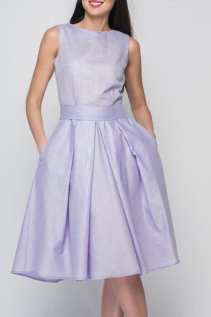ПлатьеПлатья<br>Элегантное женское платье расклешенного кроя, длина ниже колена, линию талии подчеркнет эффектный декоративный пояс, потайная застежка - молния в боковом шве, в боковых складках юбки спрятаны карманы.  Цвет: сиреневый  Рост девушки-фотомодели 175 см<br><br>Горловина: С- горловина<br>По длине: Ниже колена<br>По материалу: Лен<br>По рисунку: Однотонные<br>По силуэту: Полуприталенные<br>По стилю: Летний стиль,Повседневный стиль,Романтический стиль<br>По форме: Платье - трапеция<br>По элементам: С карманами,С молнией,Со складками<br>Рукав: Без рукавов<br>По сезону: Лето<br>Размер : 42,50,52<br>Материал: Лен<br>Количество в наличии: 3