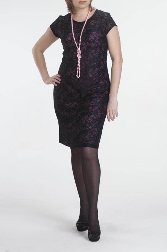 ПлатьеПлатья<br>Элегантное платье из трикотажного кружевного полотна – универсальный вариант для праздничного гардероба. Модель идеально сядет по фигуре – во-первых, благодаря эластичности ткани и, во-вторых, за счет чехла, выполненного отдельно, в виде сарафана.  В изделии использованы цвета: черный, розовый  Рост девушки-фотомодели 170 см.<br><br>Горловина: С- горловина<br>По длине: До колена<br>По материалу: Гипюр,Трикотаж<br>По рисунку: Цветные<br>По сезону: Весна,Зима,Лето,Осень,Всесезон<br>По силуэту: Приталенные<br>По стилю: Нарядный стиль<br>По форме: Платье - футляр<br>Рукав: Короткий рукав<br>Размер : 44,46<br>Материал: Холодное масло + Гипюр<br>Количество в наличии: 2
